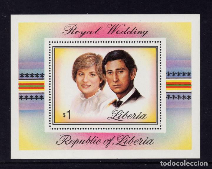 LIBERIA HB 97** - AÑO 1981 - BODA DEL PRINCIPE CARLOS Y LADY DIANA SPENCER (Sellos - Extranjero - África - Liberia)