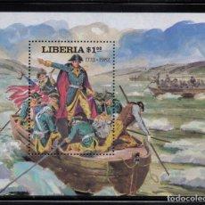 Sellos: LIBERIA HB 96** - AÑO 1981 - 250º ANIVERSARIO DEL NACIMIENTO DE GEORGE WASHINGTON. Lote 219315596