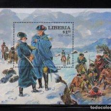 Sellos: LIBERIA HB 98** - AÑO 1981 - 250º ANIVERSARIO DEL NACIMIENTO DE GEORGE WASHINGTON. Lote 219315712