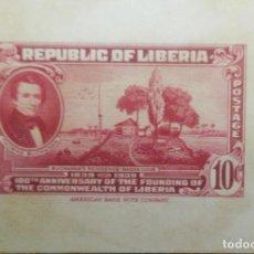Sellos: O) 1940 LIBERIA, PRUEBA DE DADO, AMERICAN BANK NOTE, THOMAS BUCHANAN Y RESIDENCIA EN BASSA COVE, FUN. Lote 222294431