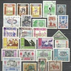 Sellos: R363-LOTE SELLOS ANTIGUOS LIBERIA AFRICA, CON SERIES COMPLETAS, SIN TASAR. ENVIOS COMBINADOS SI,SOLO. Lote 227600715