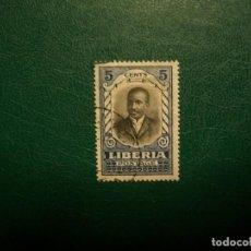 Francobolli: LIBERIA-1921-5 C.-SELLO EN USADO/º/-PERSONAJES-PRESIDENT D.E.HOWARD. Lote 235398920