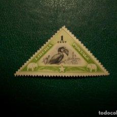 Francobolli: LIBERIA-1937-1 C.-SELLO EN NUEVO SIN GOMA(*MH)-FAUNA-PAJAROS. Lote 235399560