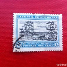 Sellos: SELLO USADO - STAMP. LIBERIA CENTENNIAL 1822-1922. ONE CENTS. Lote 241862145