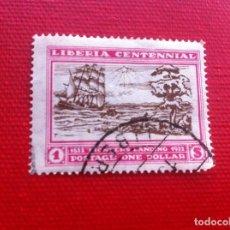Sellos: SELLO USADO - STAMP. LIBERIA CENTENNIAL 1822-1922. ONE DOLLAR. Lote 241862510
