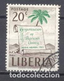 LIBERIA,ORGANIZACIÓN DE LA UNIDAD AMERICANA 1963, OBLITERADO (Sellos - Extranjero - África - Liberia)