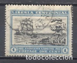 LIBERIA, CENTENARIO DE LA FUNDACIÓN DE LIBERIA, 1922, USADO, CHARNELA (Sellos - Extranjero - África - Liberia)