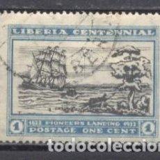 Timbres: LIBERIA, CENTENARIO DE LA FUNDACIÓN DE LIBERIA, 1922, USADO, CHARNELA. Lote 249299770