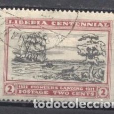 Timbres: LIBERIA, CENTENARIO DE LA FUNDACIÓN DE LIBERIA, 1922, USADO, CHARNELA. Lote 249299940