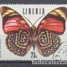 Sellos: LIBERIA,MARIPOSAS,1974, PREOBLITERADO. Lote 249301250