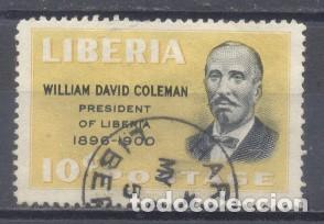 LIBERIA, WILLIAM DAVID COLEMAN, PRESIDENTE DE LIBERIA 1898/1900- USADO (Sellos - Extranjero - África - Liberia)