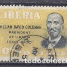 Sellos: LIBERIA, WILLIAM DAVID COLEMAN, PRESIDENTE DE LIBERIA 1898/1900- USADO. Lote 249304360