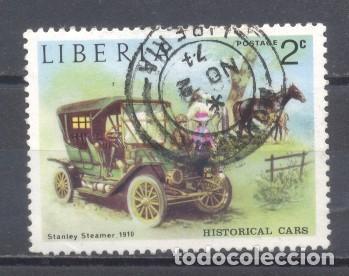 LIBERIA, 1973, COCHES ANTIGUOS, STANLEY STEAMER, PREOBLITERADO (Sellos - Extranjero - África - Liberia)