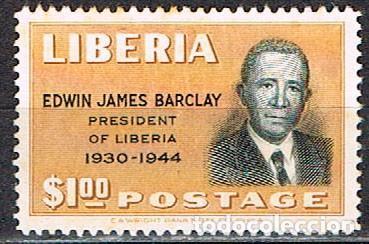 LIBERIA IVERT Nº 305 (AÑO 1949), EDWIN JAMES BARCLAY, EX-PRESIDENTE, NUEVO *** (Sellos - Extranjero - África - Liberia)