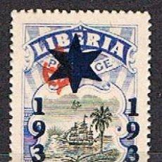 Sellos: LIBERIA IVERT Nº 223 (AÑO 1936), SELLO OFICIAL SOBRECARGADO, BARCO FRENTE A LA COSTA, NUEVO ***. Lote 251020250