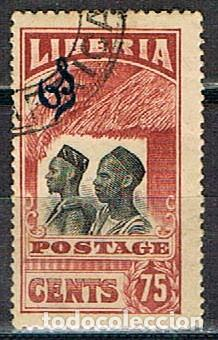 LIBERIA IVERT Nº 149 (AÑO 1918), MANDINGAS, USADO (Sellos - Extranjero - África - Liberia)
