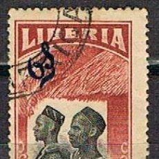 Sellos: LIBERIA IVERT Nº 149 (AÑO 1918), MANDINGAS, USADO. Lote 251021600
