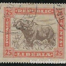Timbres: LIBERIA YVERT 206, FAUNA. Lote 258194435