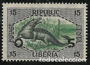 LIBERIA SERVICIOS YVERT 111, FAUNA (Sellos - Extranjero - África - Liberia)