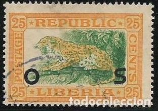 LIBERIA SERVICIOS YVERT 112, FAUNA (Sellos - Extranjero - África - Liberia)