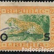 Timbres: LIBERIA SERVICIOS YVERT 112, FAUNA. Lote 258195430