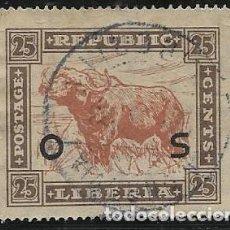 Timbres: LIBERIA SERVICIOS YVERT 140, FAUNA. Lote 258195870