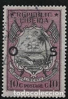 LIBERIA SERVICIOS YVERT 110 (Sellos - Extranjero - África - Liberia)