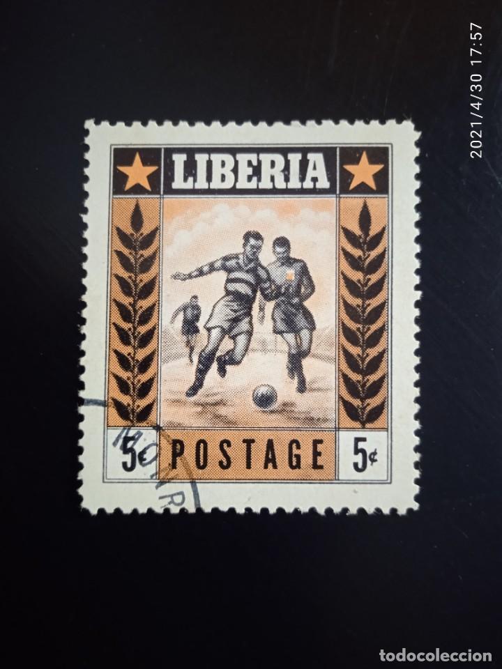 LIBERIA 5C, FUTBOL, AÑO 1955. (Sellos - Extranjero - África - Liberia)
