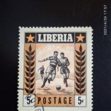 Sellos: LIBERIA 5C, FUTBOL, AÑO 1955.. Lote 262117740