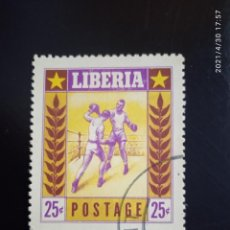Sellos: LIBERIA 25C, BOXEO, AÑO 1955.. Lote 262118500