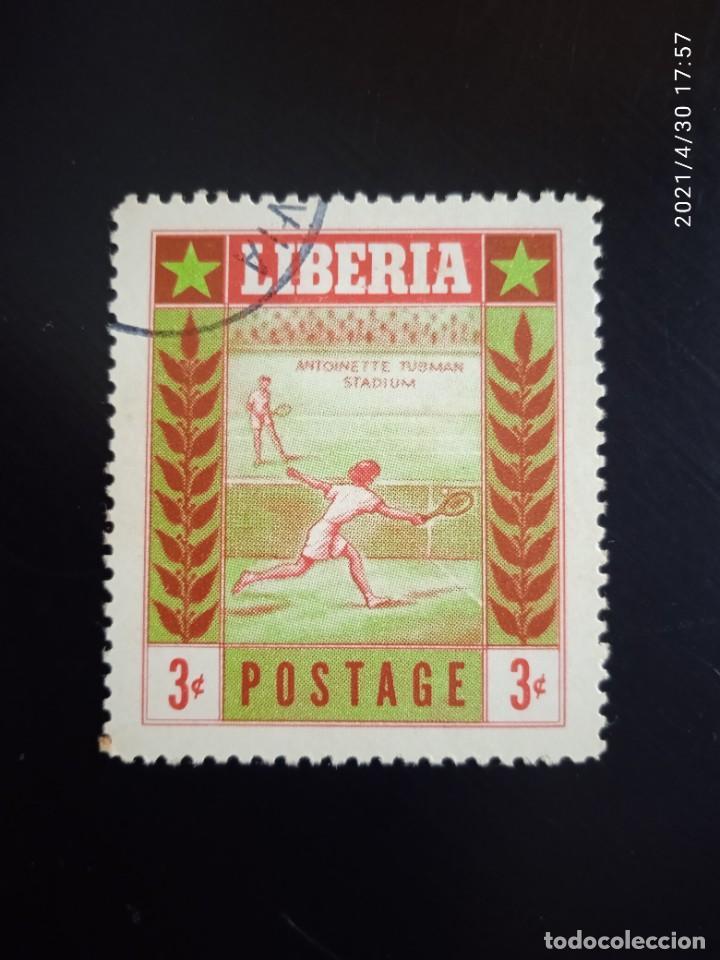 LIBERIA 3C, TENIS, AÑO 1955. (Sellos - Extranjero - África - Liberia)
