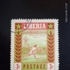 Sellos: LIBERIA 3C, TENIS, AÑO 1955.. Lote 262118840