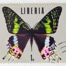 Sellos: SELLO DE LIBERIA 1 C - 1974 - MARIPOSAS - USADO SIN SEÑAL DE FIJASELLOS. Lote 267330504