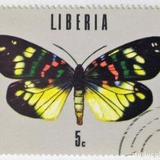 Sellos: SELLO DE LIBERIA 5 C - 1974 - MARIPOSAS - USADO SIN SEÑAL DE FIJASELLOS. Lote 267330694