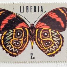 Sellos: SELLO DE LIBERIA 2 C - 1974 - MARIPOSAS - USADO SIN SEÑAL DE FIJASELLOS. Lote 267330744