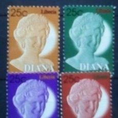 Francobolli: LADY DIANA SERIE DE SELLOS NUEVOS DE LIBERIA. Lote 268932899