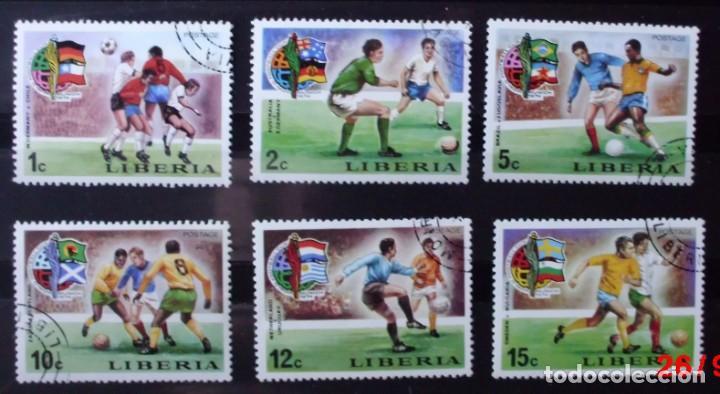 LOTE 6 SELLOS LIBERIA MUNICH 1974 (MATASELLADOS) (Sellos - Extranjero - África - Liberia)