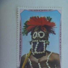 Sellos: SELLO DE LIBERIA : MASCARA RITUAL, ARTE AFRICANO ... 4 X 6,5 CM. Lote 276253633