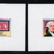 Sellos: LIBERIA 673/78 HB** - AÑO 1975 - BICENTENARIO DE LA INDEPENDENCIA DE ESTADOS UNIDOS. Lote 277497653