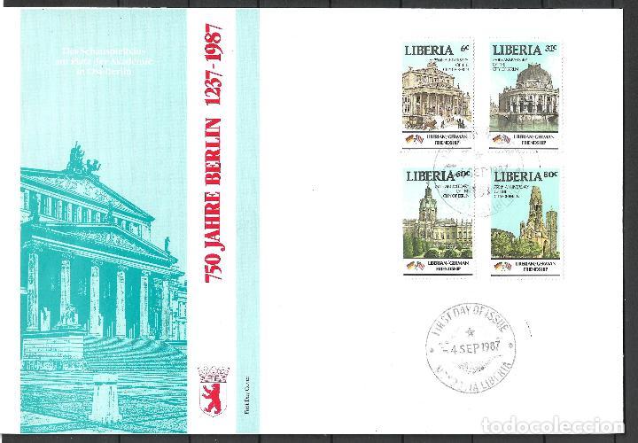 LIBERIA 1987 SOBRE PRIMER DIA - 197 (Sellos - Extranjero - África - Liberia)
