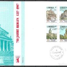 Sellos: LIBERIA 1987 SOBRE PRIMER DIA - 197. Lote 286837823