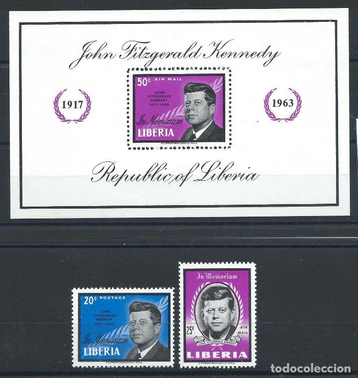 LIBERIA N°392 + PA 146 + BLOC 29* (MH) 1964 - JOHN F. KENNEDY (Sellos - Extranjero - África - Liberia)