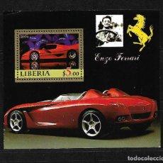 Sellos: LIBERIA 2006, HOJA BLOQUE ENZO FERRARI. MNH.. Lote 288006643