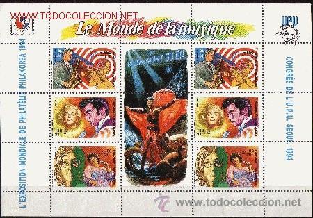 MADAGASCAR 1412A/12C HB*** - AÑO 1994 - EL MUNDO DE LA MÚSICA (Sellos - Extranjero - África - Madagascar)
