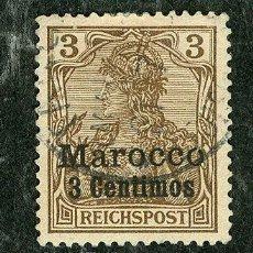 Sellos: SELLO MARRUECOS MAROCCO MAROC ALEMAN GERMAN 3 CTS AÑO 1900 (VER SELLOS GUERRA CIVIL EN VENTA). Lote 28721731
