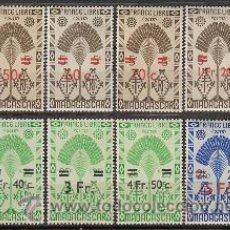 Sellos: MADAGASCAR (COLONIA FRANCESA) IVERT Nº 290/7, FRANCIA LIBRE, NUEVO CON SEÑAL CHARNELA. Lote 33065935