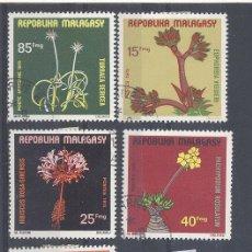 Sellos: MADAGASCAR , FLORES , LOTE DE 5 SELLOS. Lote 34634860