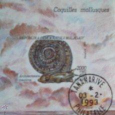 Sellos: MADAGASCAR. HB 83 FAUNA MOLUSCOS: ARCHITECTONIA MAXIMA. 1993. SERIE USADA DE FAVOR Y NUMERACIÓN YVER. Lote 93815938