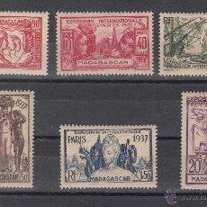 Sellos: MADAGASCAR 193/8 CON CHARNELA, EXPOSICION INTERNACIONAL DE PARIS, . Lote 42510503