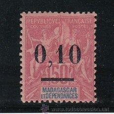Sellos: MADAGASCAR 53 TIPO I CON CHARNELA, SOBRECARGADO. Lote 42510779